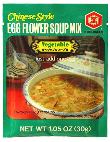 Kikkoman Chinese Style Egg Flower Soup Mix - Vegetable - Pacific Rim Gourmet