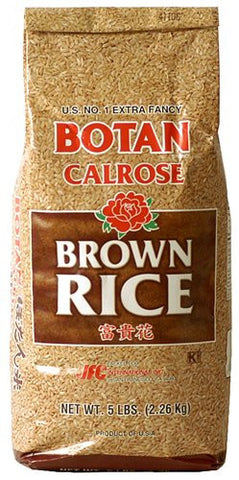 Botan Calrose Brown Rice (5#) - Pacific Rim Gourmet