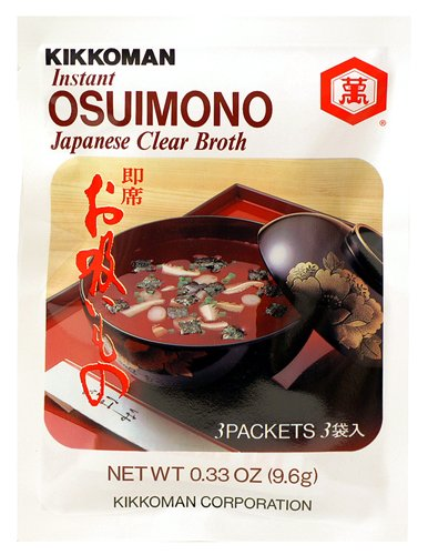 Kikkoman Instant Osuimono Japanese Clear Broth (Pack of 6)