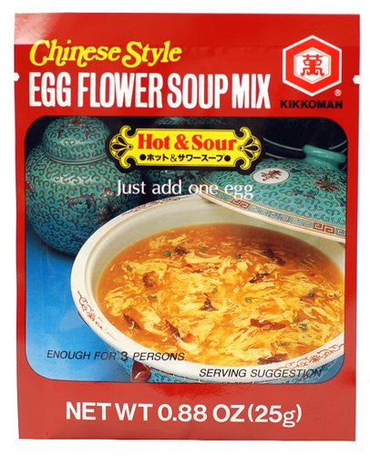 Kikkoman Chinese Style Egg Flower Soup Mix - Hot & Sour - Pacific Rim Gourmet