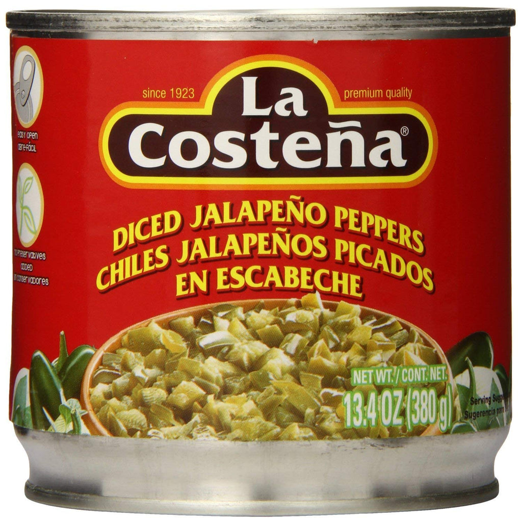 La Costena Jalapenos, Diced (Pack of 3)