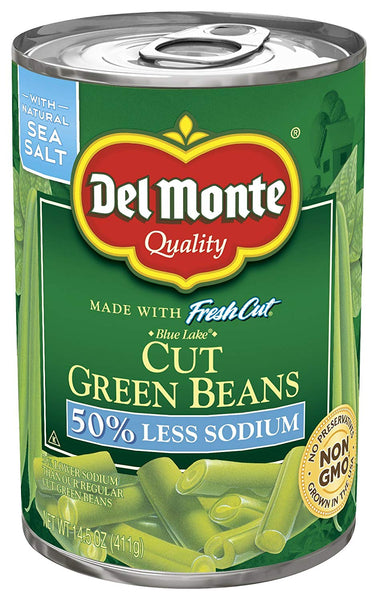 Del Monte Green Beans with 50% Less Salt