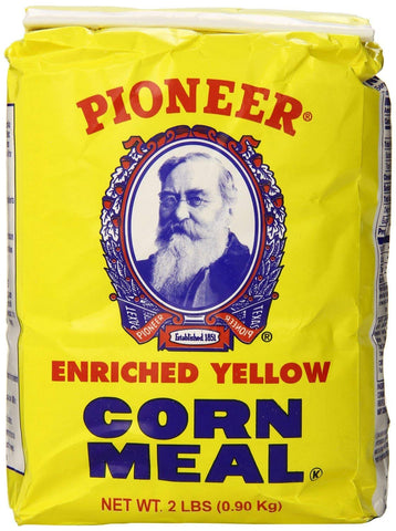 Pioneer Brand Cornmeal, Yellow - 2 lb (Pack of 3)