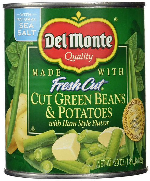 Del Monte Cut Green Beans Potatoes with Ham, 29 Ounce (Pack of 6)