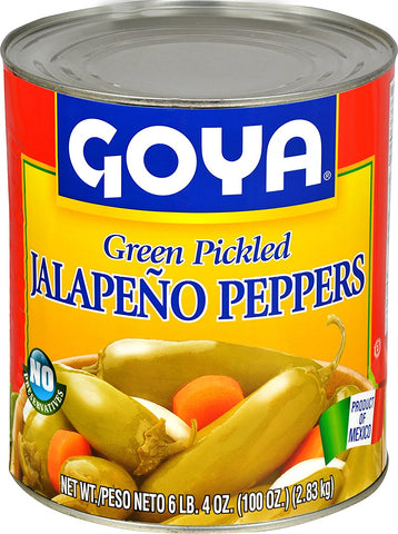 Goya Jalapeno Peppers, Whole - 6 lbs