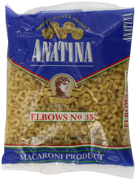 Anatina Elbow, 16 oz (Pack of 20)