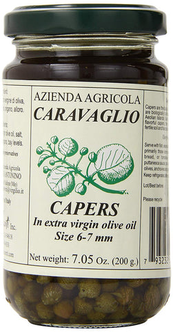 Antonino Caravaglio Marinated Capers with Herbs In Extra Virgin Olive Oil