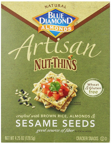 Blue Diamond Almond Artisan Nut-Thins Sesame Seeds