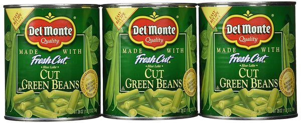 Del Monte Cut Green Beans, 28 oz (Pack of 6)