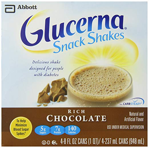 Glucerna Nutritional Shakes, Creamy Chocolate Delight, 4 Count - 8 Ounce Can