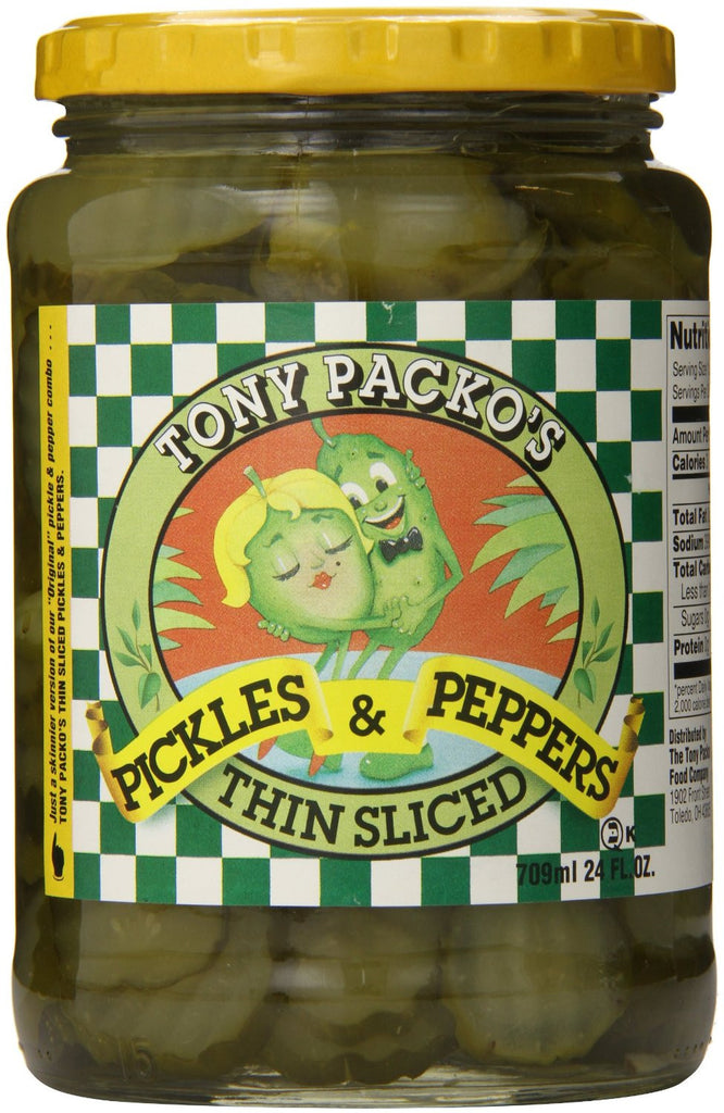 Tony Packo Thin Sliced Pickles and Peppers - Pacific Rim Gourmet