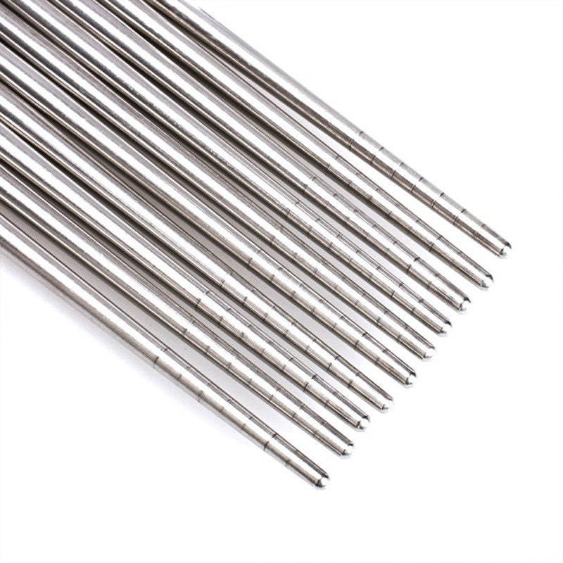 Stainless Steel Chopsticks (Pack of 5 Sets)