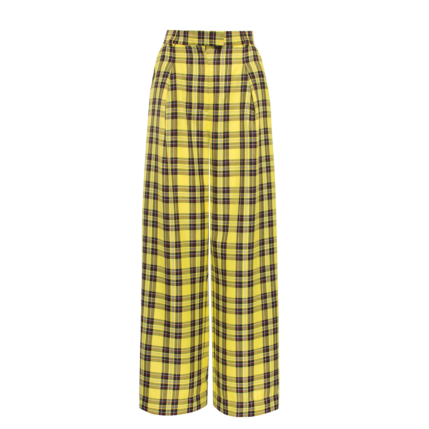 Reality Check Yellow high-rise trousers - VOLS & ORIGINAL