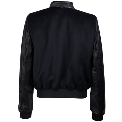 Leather and Alpaca Panelled Bomber Jacket - VOLS & ORIGINAL