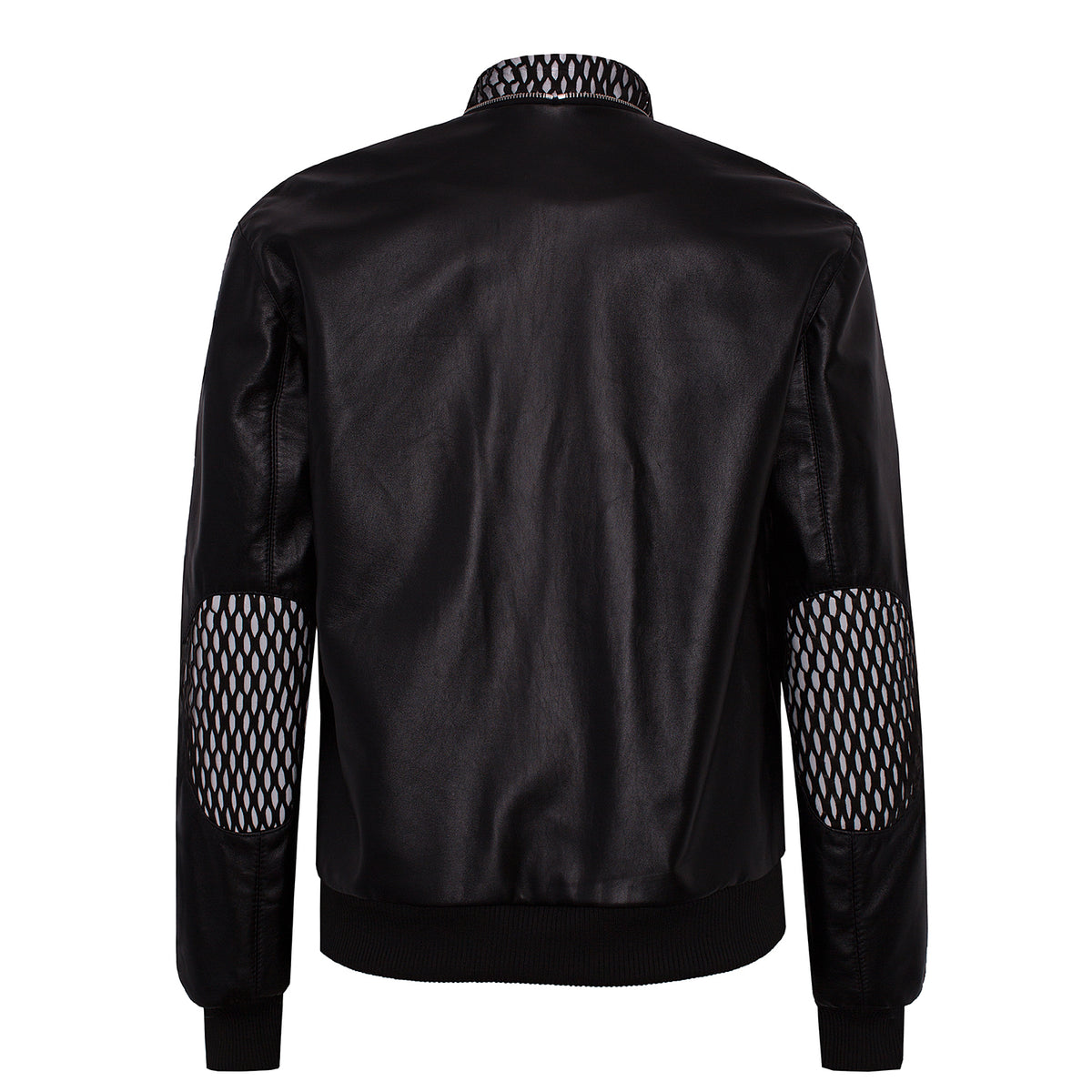 'sNet' Leather Bomber Jacket - VOLS & ORIGINAL