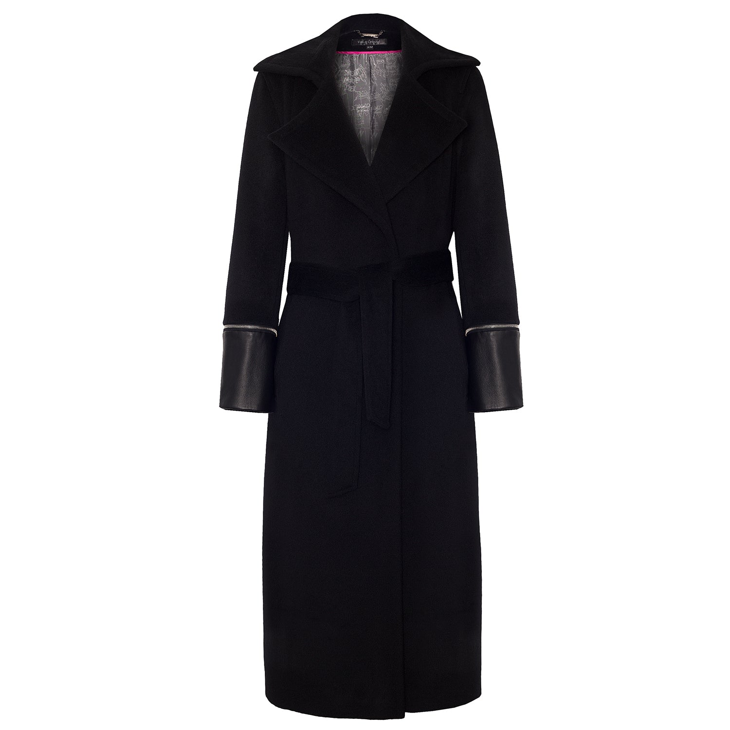 'Amen Noir' Cashmere Trench Coat - VOLS & ORIGINAL