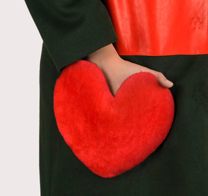 Love coat valentines day heart pocket cashmere