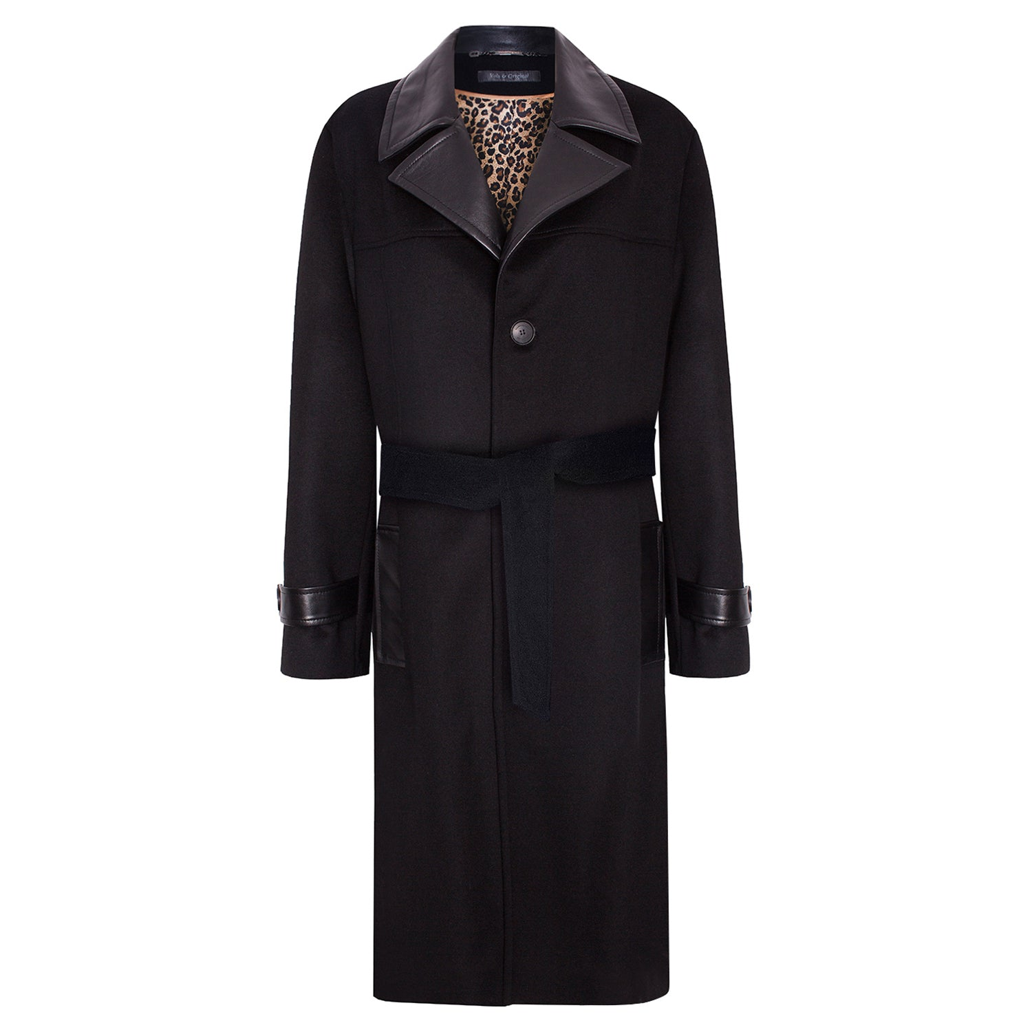 'Snoop' Cashmere Trench Coat with Leather Elements - VOLS & ORIGINAL