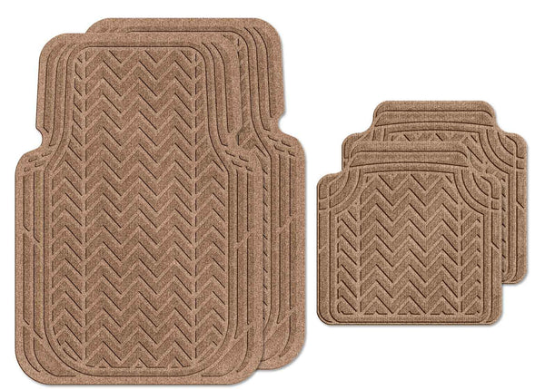 Waterhog Car Mats Chevron Large Full Set Medium Brown
