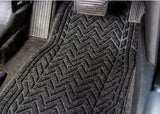 this car shows the unique style and great fit of this medium Chevron car mat.