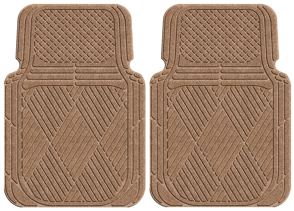 Waterhog Car Mats Classic Large Front Set Medium Brown