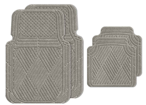 Waterhog Car Mats Classic Large Full Set Medium Grey