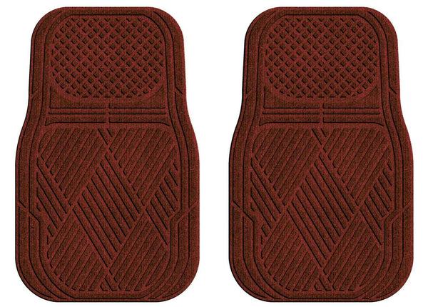 Waterhog Car Mats Classic Medium Front Set Red Black