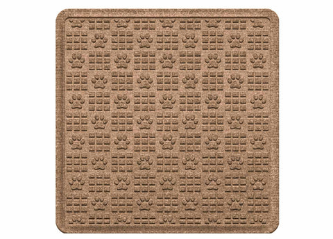 Waterhog Car Mats Paw Print Large Cargo Medium Brown