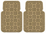 Waterhog Car Mats Paw Print Large Front Set Camel