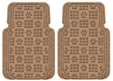 Waterhog Car Mats Paw Print Large Front Set Medium Brown