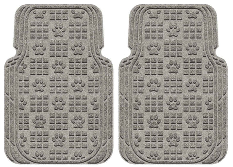 Waterhog Car Mats Paw Print Large Front Set Medium Grey