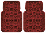 Waterhog Car Mats Paw Print Large Front Set Red Black