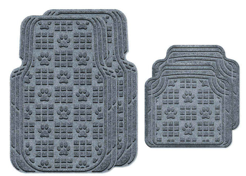 Waterhog Car Mats Paw Print Large Full Set Bluestone