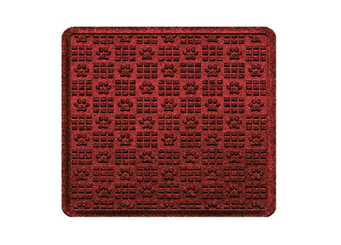 Waterhog Car Mats Paw Print Medium Cargo Red Black