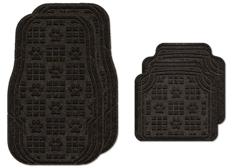 Waterhog Car Mats Paw Print Medium Full Set Charcoal