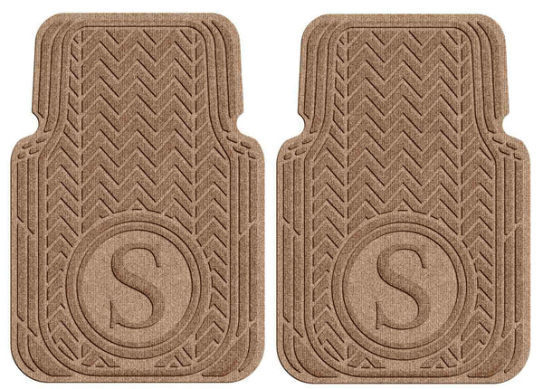 Waterhog Car Mats Personalized Front Set Medium Brown