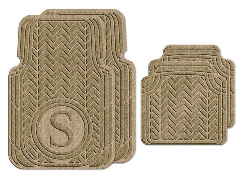 Waterhog Car Mats Personalized Full Set Camel
