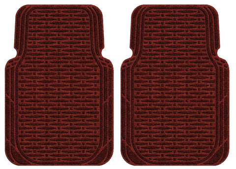 Waterhog Car Mats Traction Large Front Set Red Black