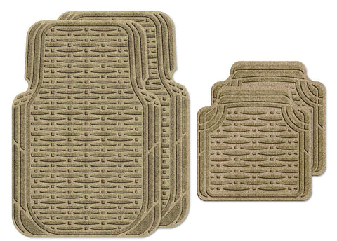 Waterhog Car Mats Traction Large Full Set Camel