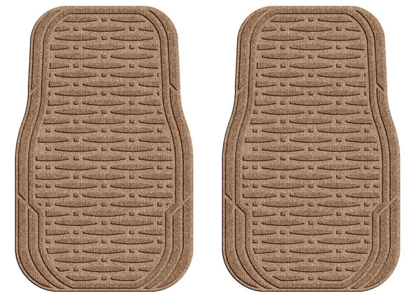 Waterhog Car Mats Traction Medium Front Set Medium Brown