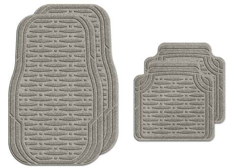Waterhog Car Mats Traction Medium Full Set Medium Grey
