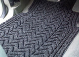 Chevron large car mat is a great fit in this truck