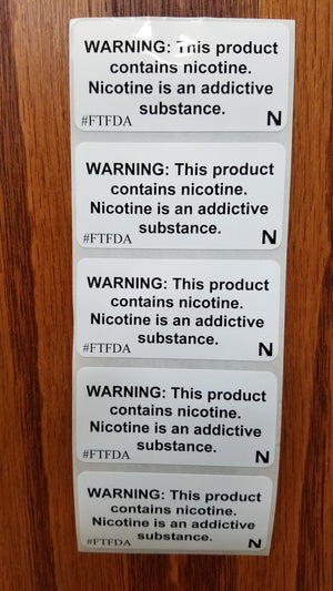 WARNING: This product contains nicotine stickers - Strip of 5