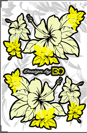 Stickers pour Casques / Helmets FLOWERS