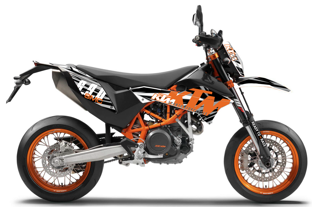 d co moto ktm 690 smc grafik burn out design. Black Bedroom Furniture Sets. Home Design Ideas