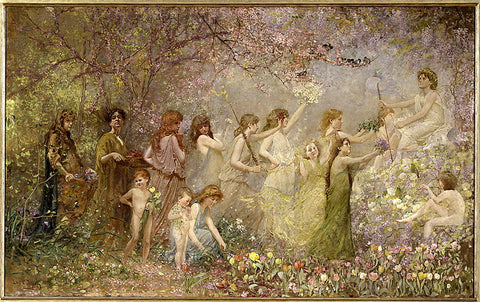 The Blossoms of spring by Louis Comfort Tiffany