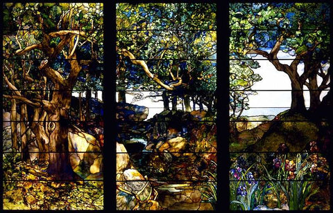 Wooded Landscape by Louis Comfort Tiffany