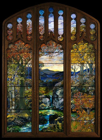 autumnal landscape by Louis Comfort Tiffany