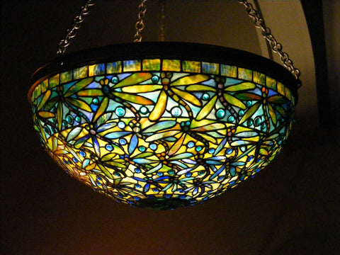 Dragonfly Chandelier by Louis Comfort Tiffany