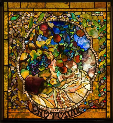 Autumn Window by Louis Comfort Tiffany